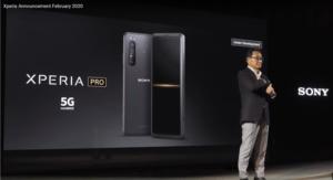 5Gミリ波帯対応のXperia Proの開発も発表された