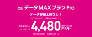 データMAX 4G LTEとauデータMAXプラン Proの違い