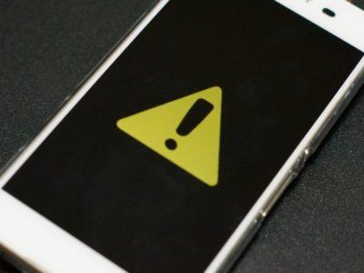 iPhone 警告
