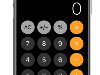 iPhone 計算機アプリ