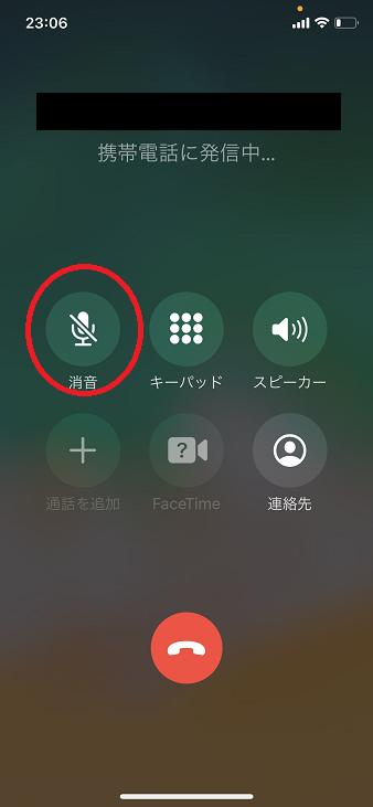 iPhone 保留ボタン