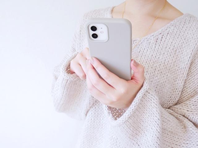 iPhone さわる