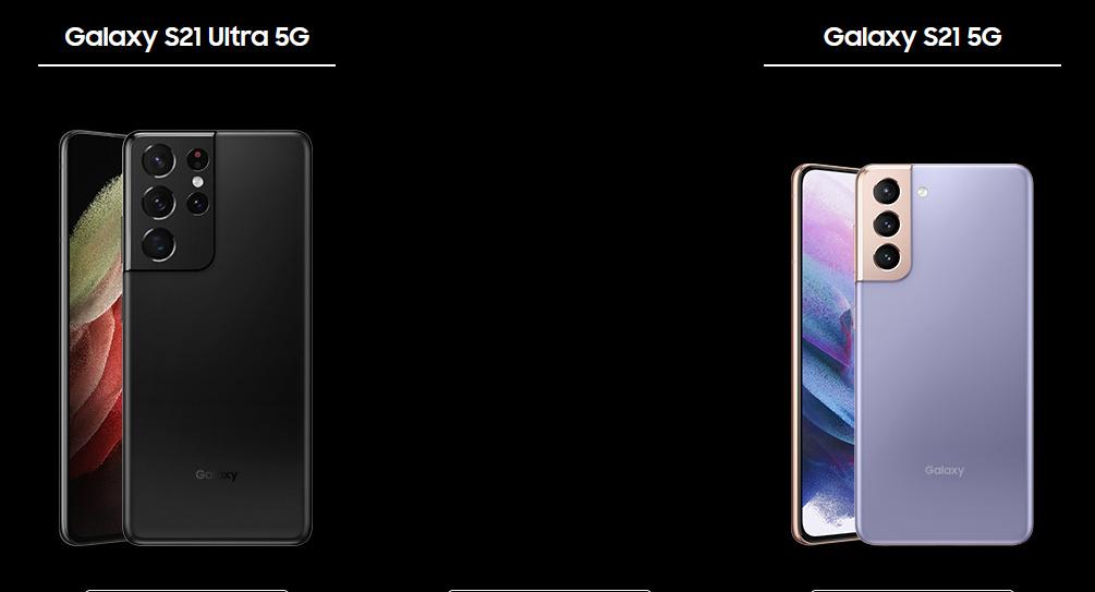 Galaxy S21 5G SC-51B・Galaxy S21 Ultra 5G SC-52B①